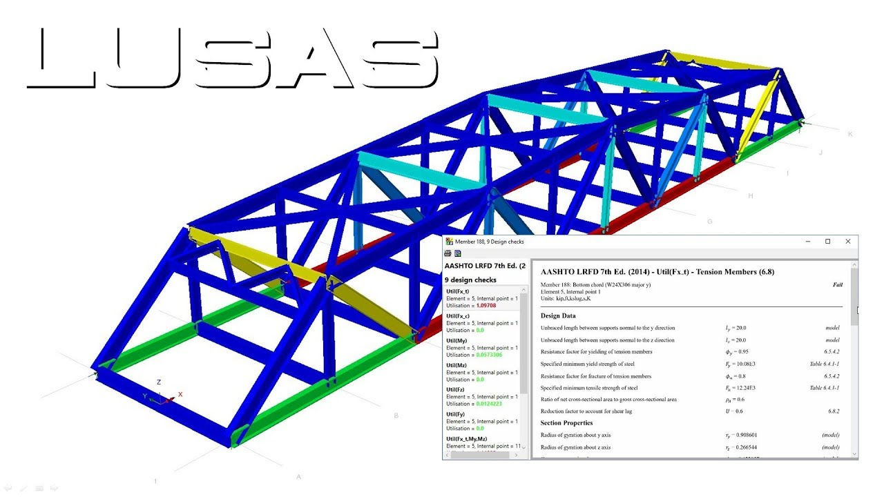 Steel bridge design to AASHTO LRFD 7th Edition using LUSAS ...