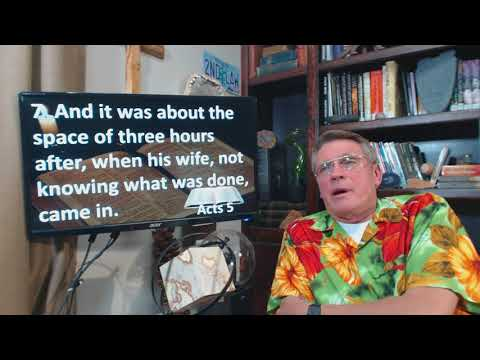 Dr. Kent Hovind 11-22-17 Acts 5.  The principle of the first mention