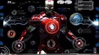 rainmeter skin Iron man 2013