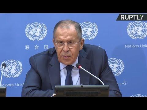 LIVE: Russian FM Sergey Lavrov holds press conference on UNGA sidelines