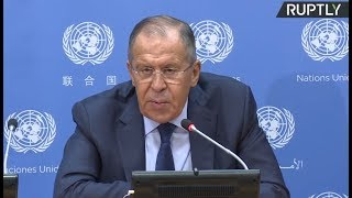LIVE: Russian FM Sergey Lavrov holds press conference on UNGA sidelines