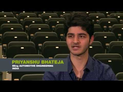 Priyanshu Bhateja from India is studying a BEng in Automotive Engineering
