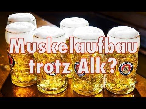 Alkohol & Muskelaufbau - Wie schädlich...