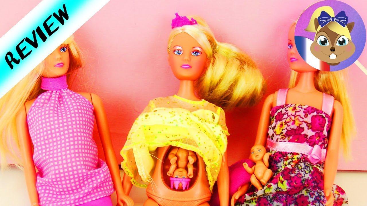 3 poup es enceintes avec un b b dans le ventre comparaison de princesses steffi love youtube. Black Bedroom Furniture Sets. Home Design Ideas