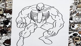 Como dibujar a venom | how to draw venom