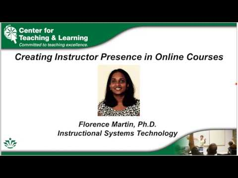 Creating Instructor Presence in Online Courses (2/15/2017)