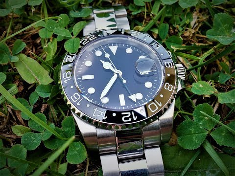 PARNIS AUTOMATIC NO LOGO CERAMIC BEZEL ROLEX HOMAGE WATCH