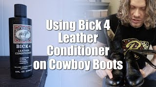 Using Bick 4 Leather Conditioner on
