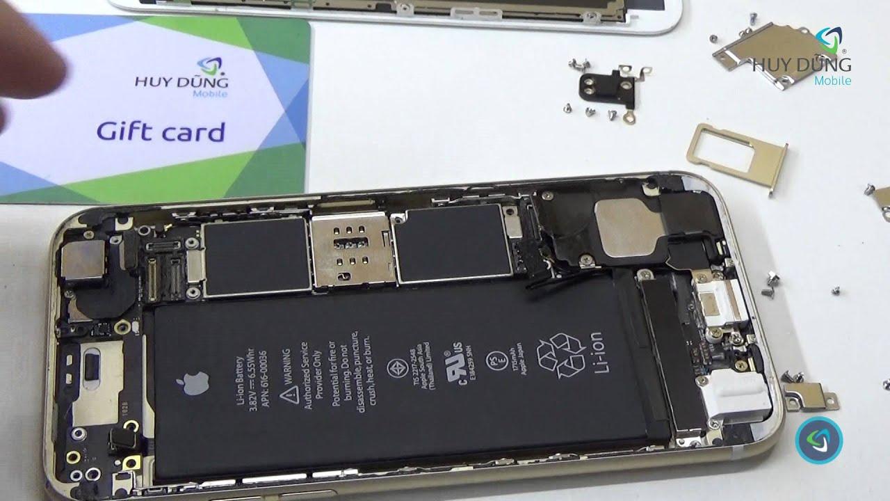 Hướng dẫn cách tháo máy iPhone 6s chính hãng – Huy Dũng Mobile
