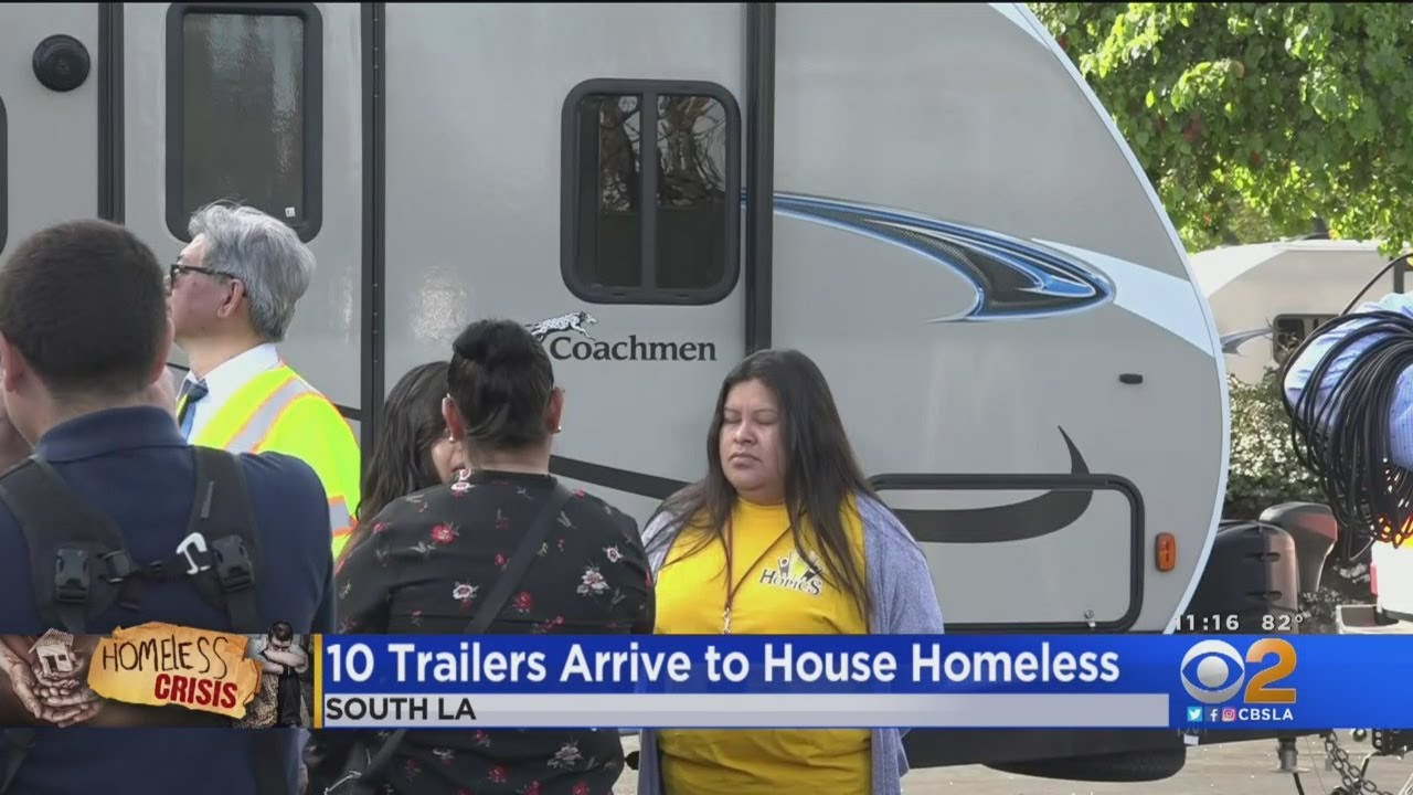 Download 10 More Trailers Arrive In South LA To House Homeless Families