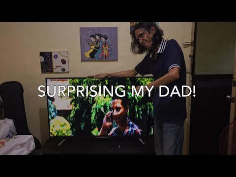 BOUGHT MY DAD A NEW TV | Father's Day Video