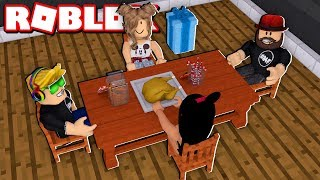 THANKSGIVING DINNER IN THE MOST BEAUTIFUL MANSION IN ROBLOX BLOXBURG
