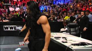 Ryback saves Ric Flair from The Shield: Raw, Dec. 17, 2012