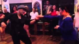 Salsa dancing with Francisco Vazquez on his birthday