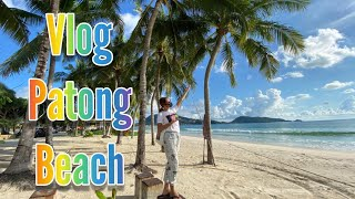 Walking around on patong beach Phuket 1 June 2020