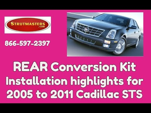 How To Do A Rear Air Shock Conversion On A Cadillac STS - YouTube