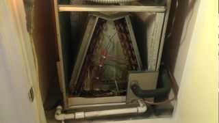 Phoenix Air conditioning condensate drain line problems, evaporator pan leaks HVAC, plugged drain