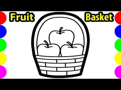 Fruit Basket Drawing Pictures How To Draw Apple Easy Art For Kids | Jolly Toy Coloring