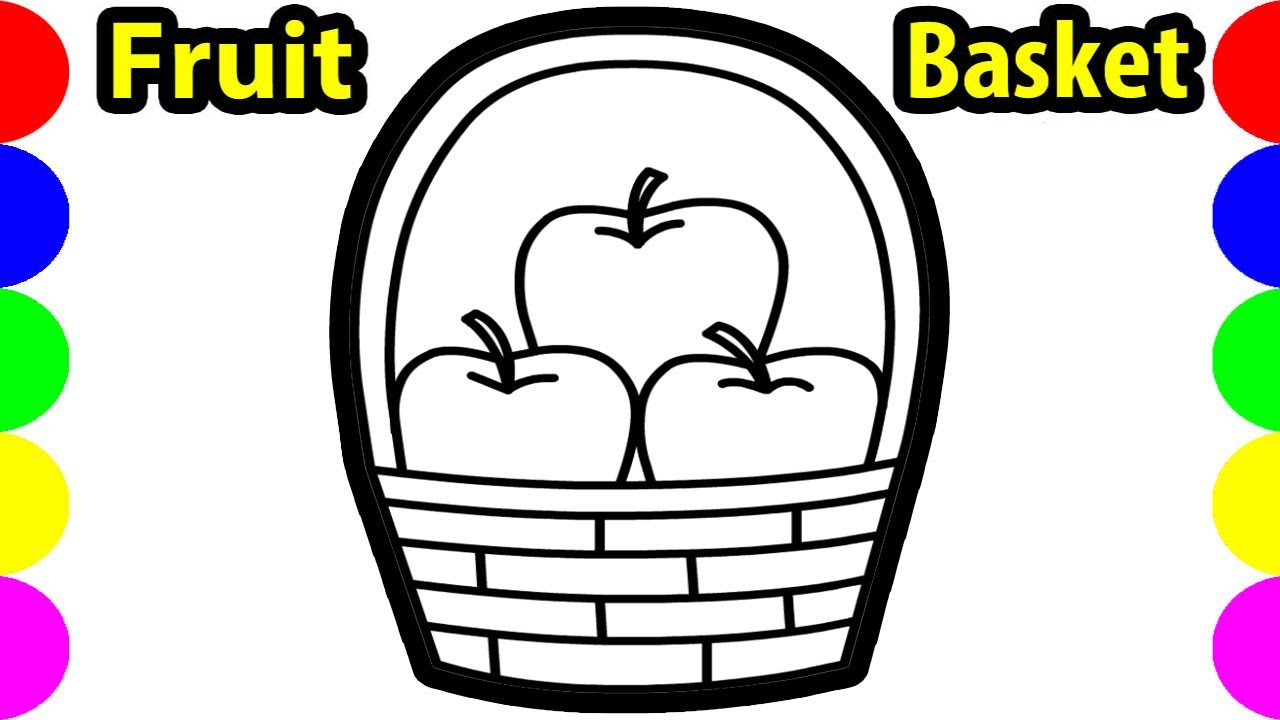 Fruit Basket | Drawing Pictures | How To Draw Apple Easy ...