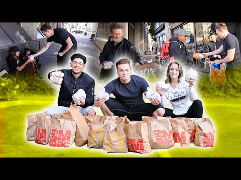 BUYING 200 MCDOUBLES - FOOD FOR THE HOMELESS