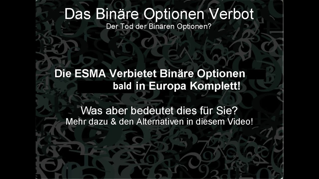 Esma binary options ban 2020