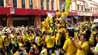Bersih 3.0 (428) at Jalan Sultan (Petaling Street) KL - Yellow Power Ranger