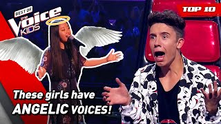 Heavenly and ANGELIC Girl Voices on The Voice Kids! 😇   Top 10