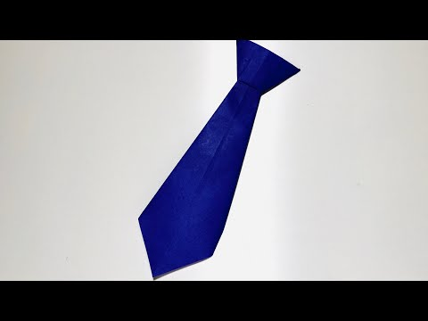 [ORIGAMI DIY]How to make Paper Tie (EASY)