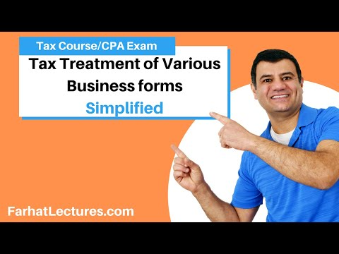 S Corp Verus C Corp Versus LLC Vs Partnership | Income Tax Course | TCJA | CPA Exam Regulation