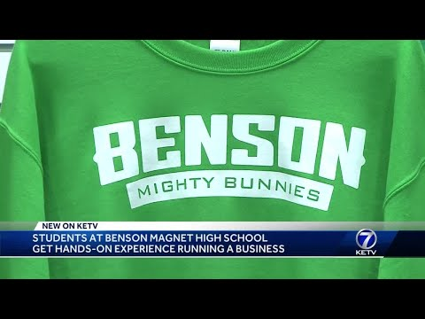Students at Benson Magnet High School get hands-on experience running business