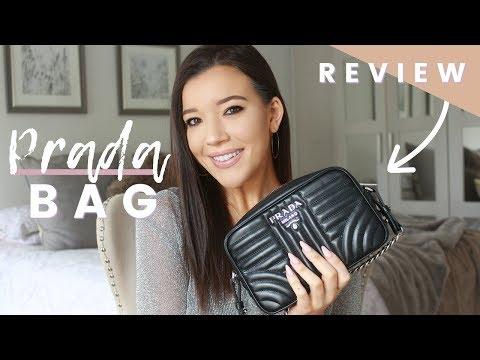 PRADA DIAGRAMME CROSS - BODY REVIEW & WHAT'S IN MY BAG