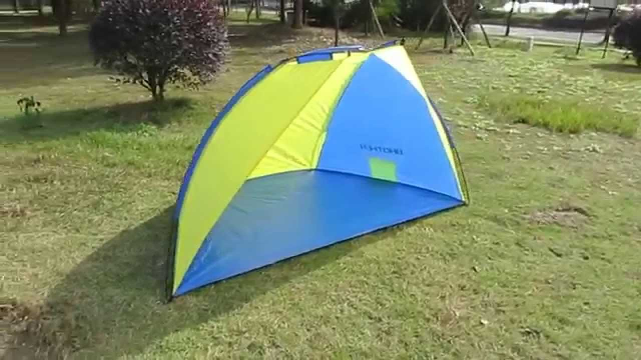 Blue Yellow Color Beach Tent Shelter Sun Shade Easy To Set Up