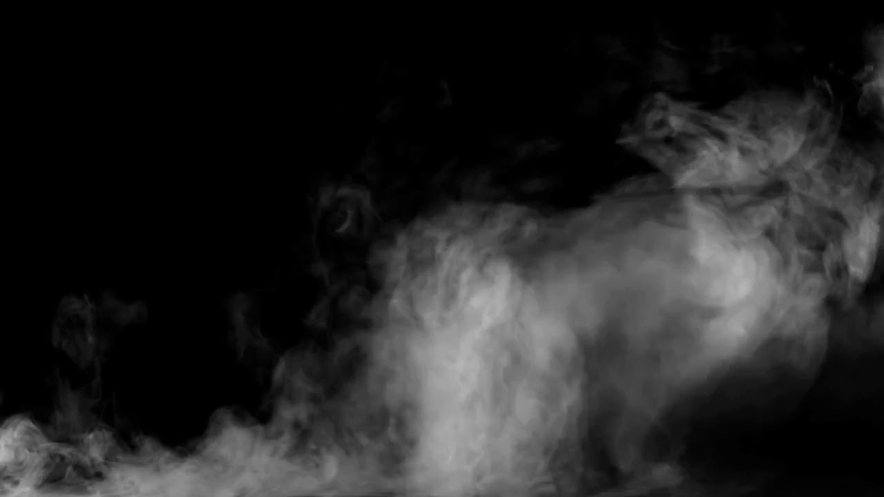 Smoke on black background 14 HD Humo sobre fondo negro 14 ...