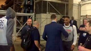 Russell Westbrook & Kevin Durant awkward encounter at NBA ALL STAR WEEKEND 2017 (kd ex in public)