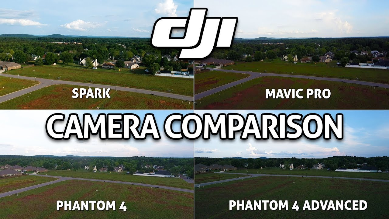 Dji Spark Camera Vs Mavic Pro Vs Phantom 4 Vs P4 Advanced
