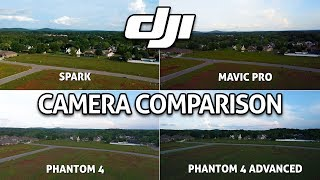 DJI SPARK CAMERA vs Mavic Pro vs Phantom 4 vs P4 Advanced!! Test Comparison Review