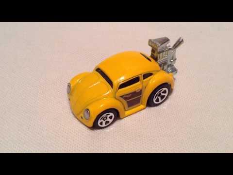 Hot Wheels Volkswagen Beetle Tooned (2017 Tooned - Yellow Recolor)