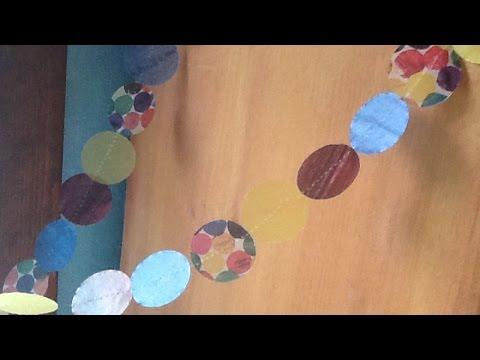 Make a Colorful Sewn Circle Garland - DIY Home - Guidecentral