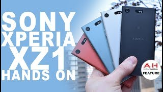 Sony Xperia XZ1 and XZ1 Compact Hands On at IFA 2017 - Android Oreo Inside!