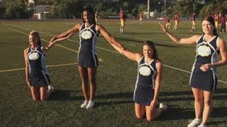How to Do a Basic Cheer Pyramid | Cheerleading