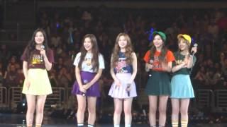 [FANCAM] KCON 2015 - Red Velvet - Ice Cream Cake + Something Kinda Crazy + Stickwitu + Happiness