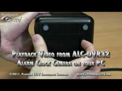 Playback Video on PC - ALC-DVR32, ALC-DVR32SL, ALC-DVR32NV Alarm Clock Spy Cameras