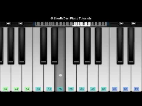 Jana Gana Mana (National Anthem)- Easy Mobile Piano Tutorial