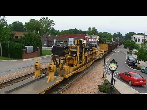CSX With Track Laying Equipment