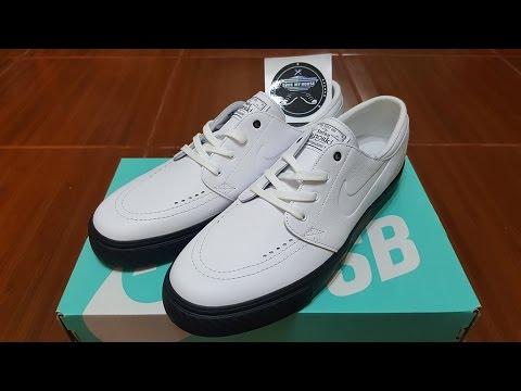 Unboxing - Nike SB Stefan Janoski Premium Capsule White Black Leather