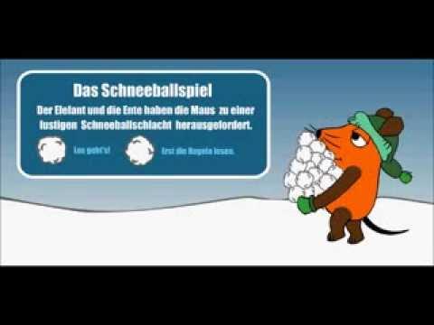 [Let's Play] Schneeballspiel - WDR - Maus - für Kinder - Flash-Game - Konstenlos