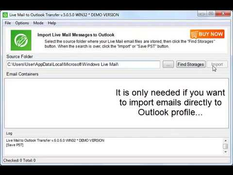 How to import [Windows Live Mail to Outlook?] - User manual