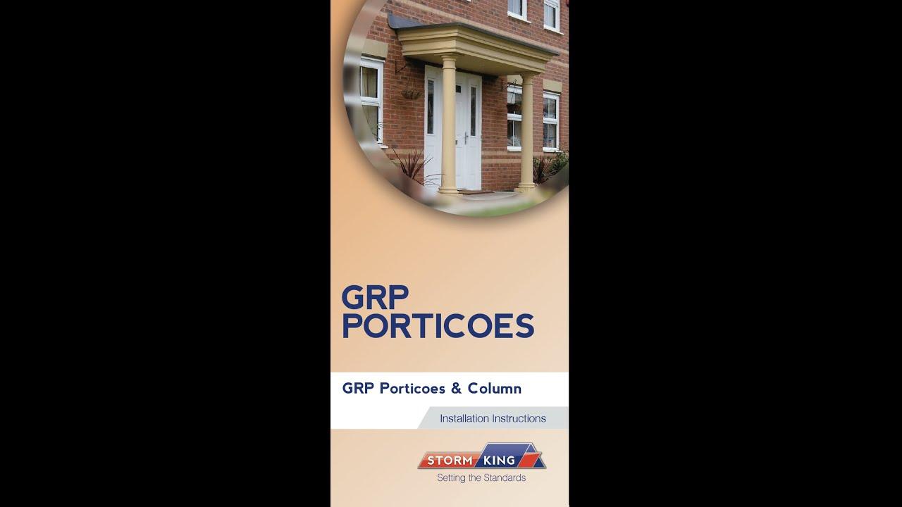 New Stormking Plastics Ltd - GRP Portico Fixing Video & New Stormking Plastics Ltd - GRP Portico Fixing Video - YouTube
