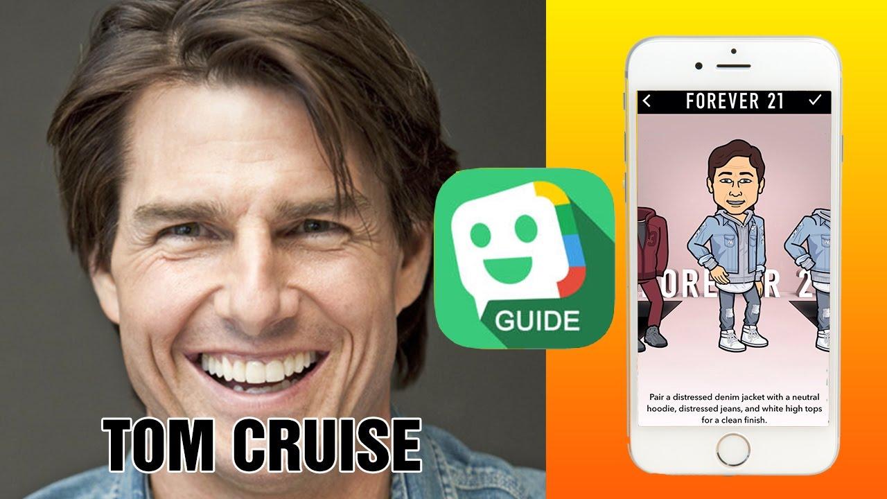 Tutorial for Bitmoji  How to create avatars  Tom Cruise - YouTube 7b7ad6280
