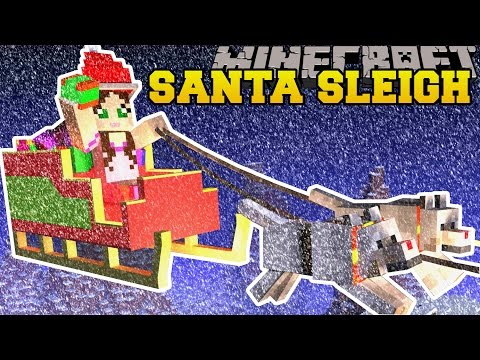 Minecraft: TRAPPED ON SANTA'S SLEIGH! - FIND THE BUTTON CHRISTMAS RAGE - Custom Map